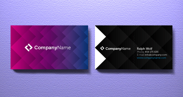 business card online design