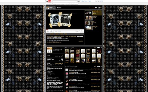 youtube custom background design services
